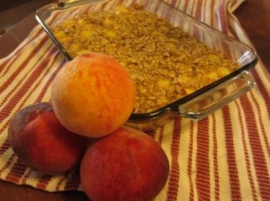 Peach Baked Oatmeal-- a great way to start your morning!