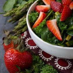 Triple-Green-Salad-Strawberries