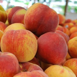 Peaches (2): Peaches are low in fat, free of saturated fat and sodium and a good source of vitamin C.