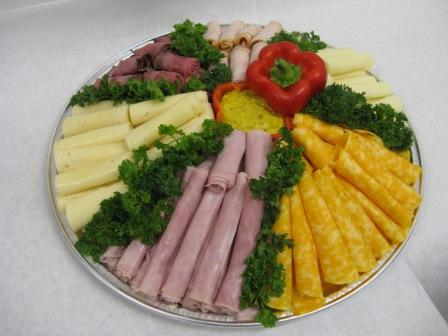 Cheese and meat tray ready for making scrumptious sandwiches!