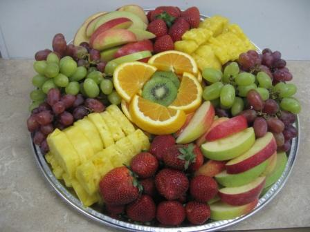 This scrumptious fruit platter is a healthy addition to any big game feast!