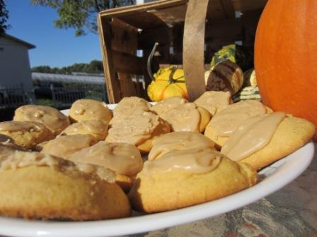 Fairy Tale Pumpkin Cookies Basking in the warm orchard sun!