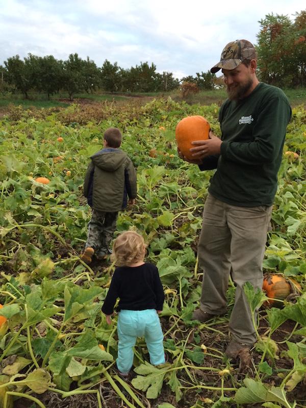 Pumpkin Patch - Justin and kids