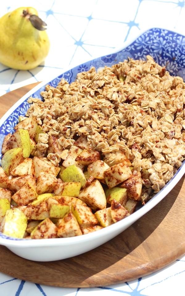 Pear recipes: vegan pear crisp