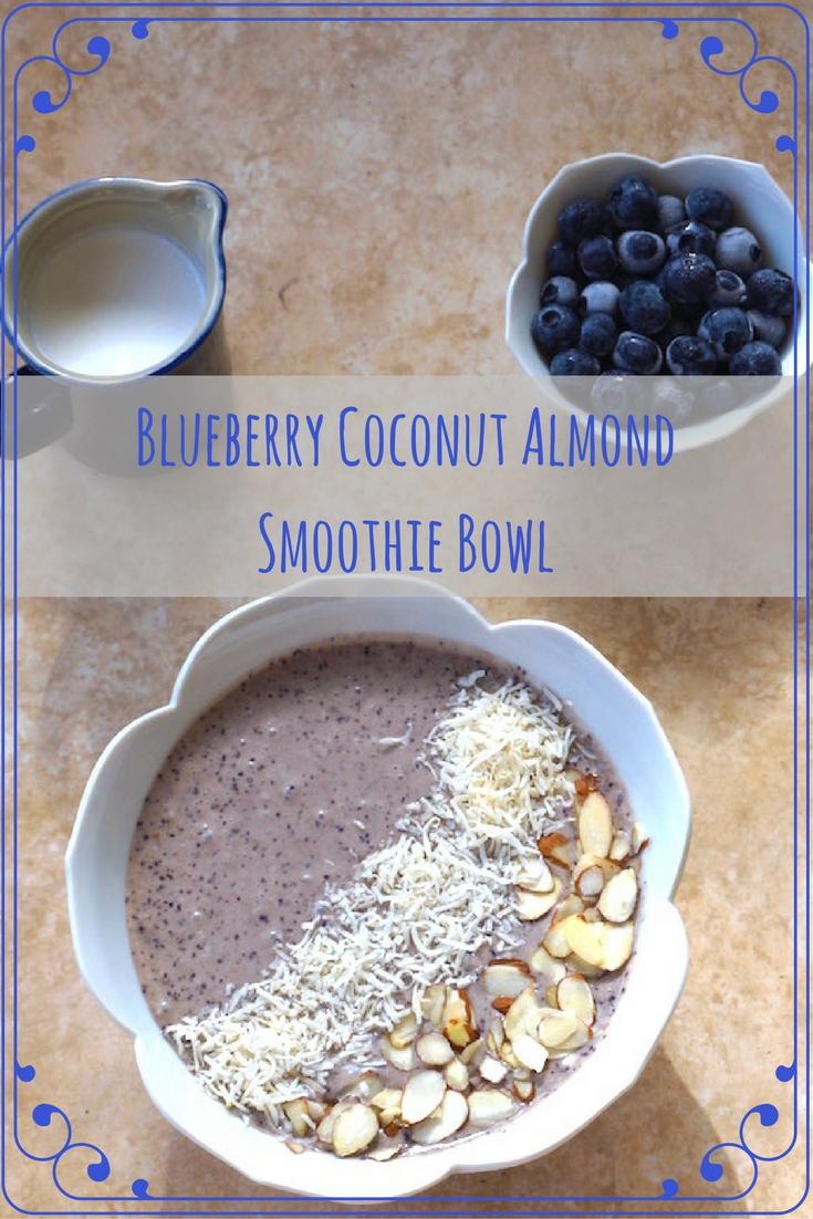 Blueberry Coconut Almond Smoothie Bowl