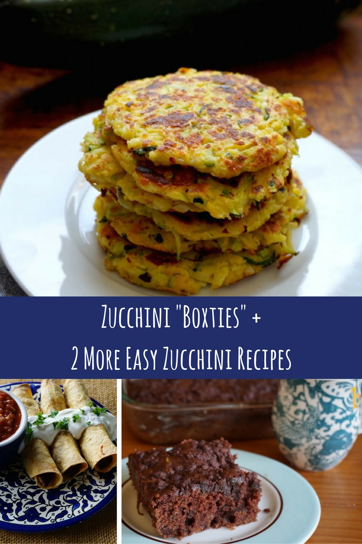 Zucchini %22Boxties%22 +2 More Easy Zucchini Recipes