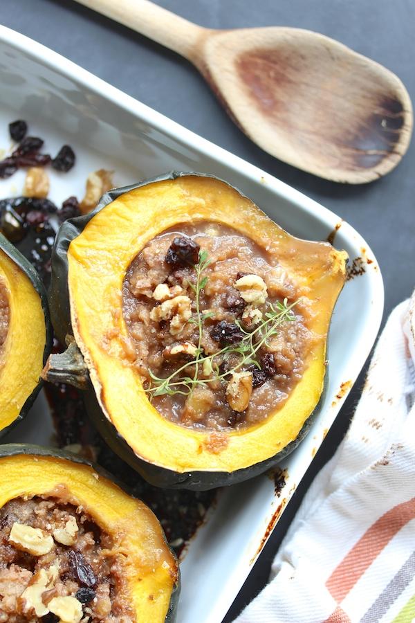 acorn squash with applesauce