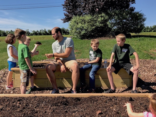 Composting and planting at Orchard Explorers