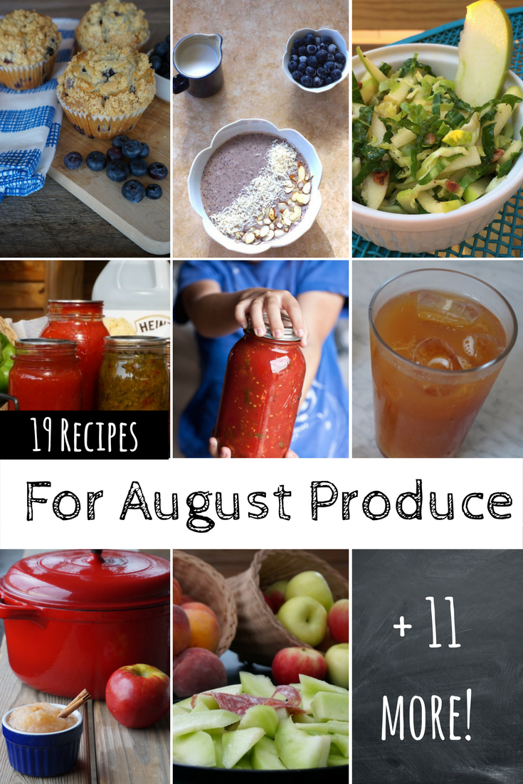 August is #PAProduceMonth! It's the perfect time to experiment with new recipes for a the bountiful fruits and veggies! #berries #apples #peaches #corn #melons #tomatoes