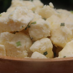 garlic and chives cheese curds