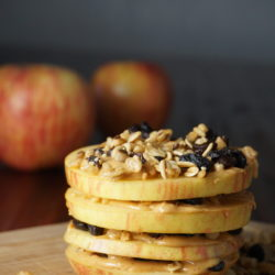 Granola-apple-slices