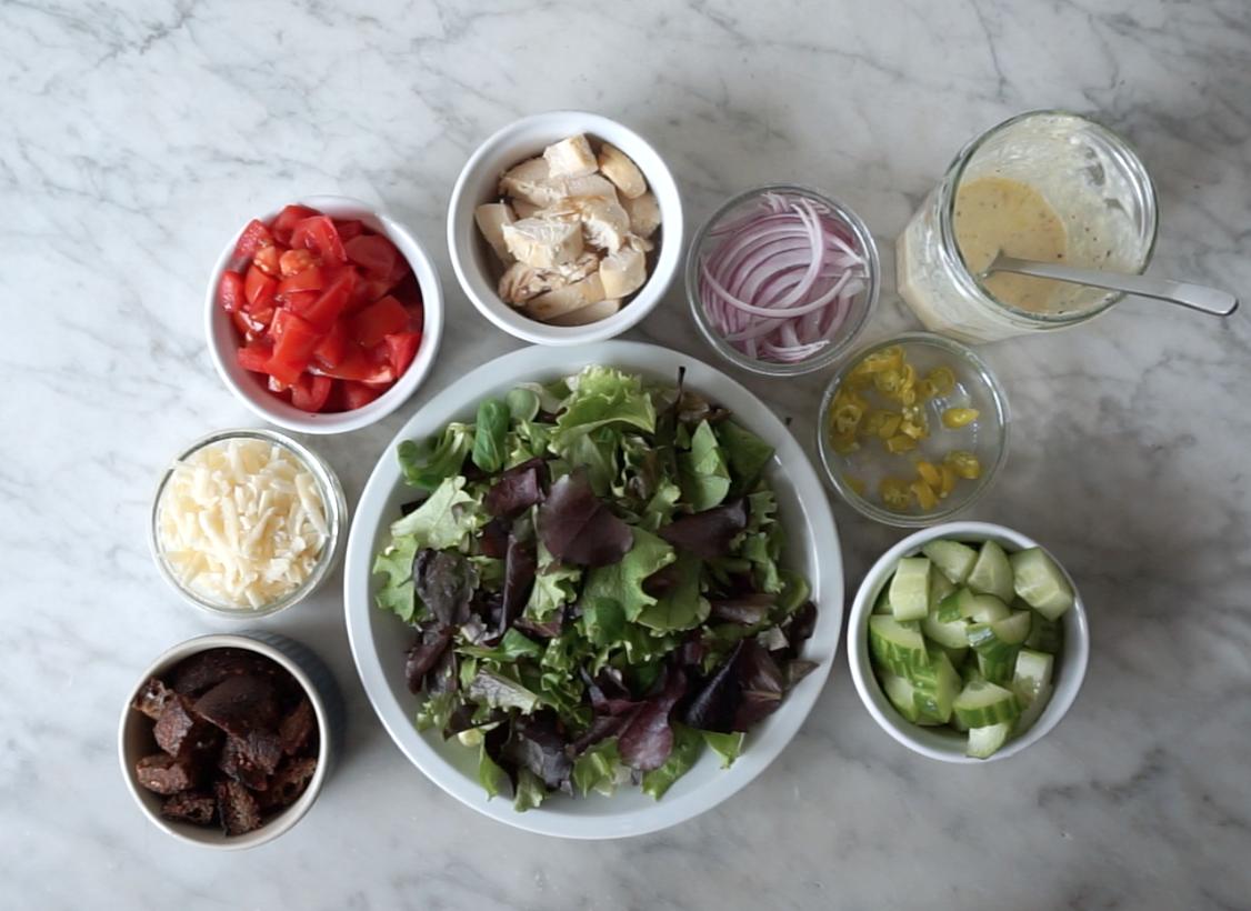 Salad with Creamy Italian Salad Dressing