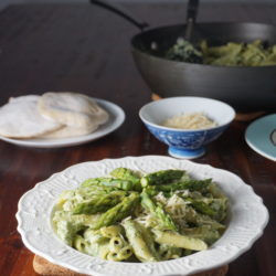 Asparagus Pasta with Cream Sauce_1