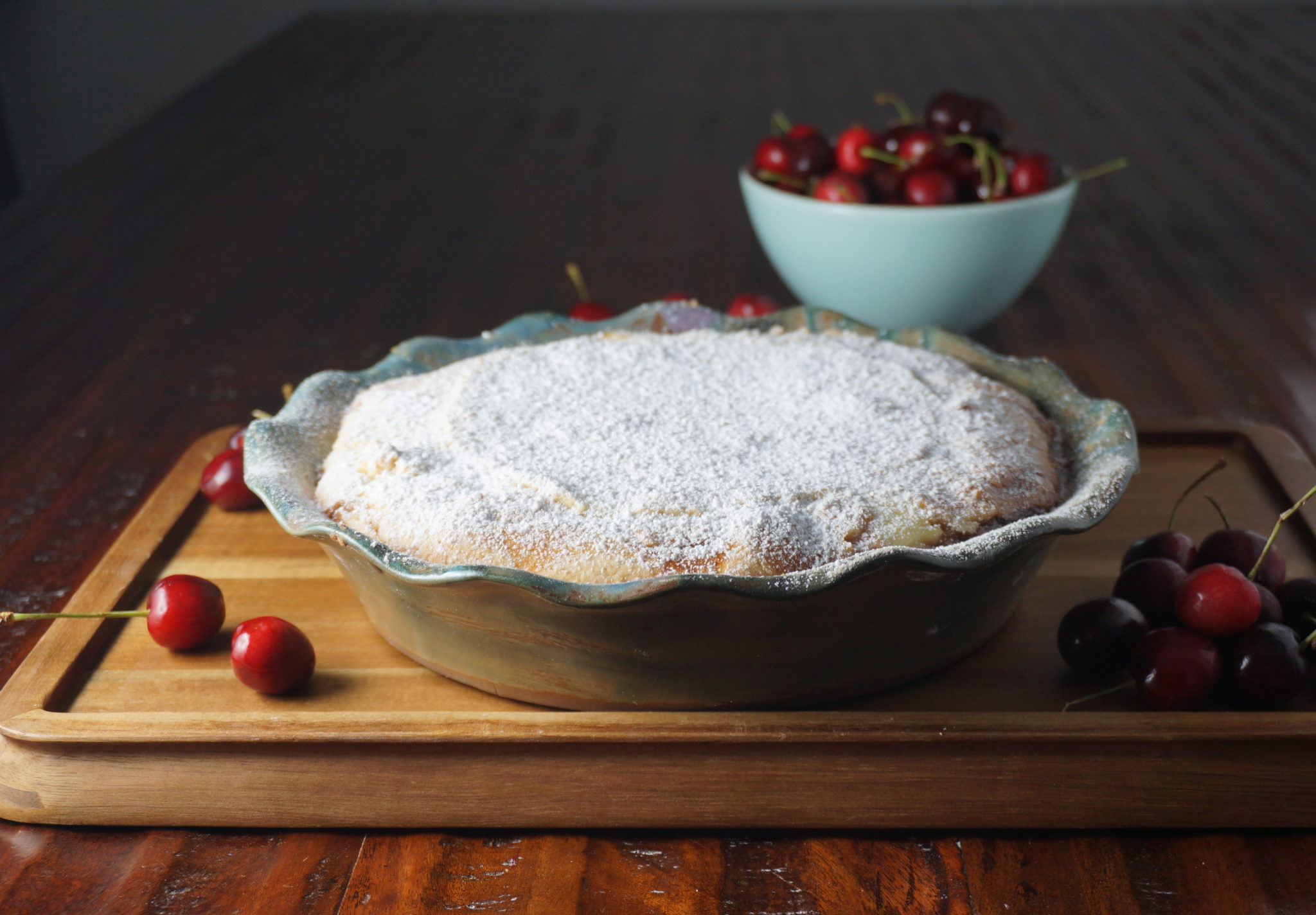 Crostata ricotta e visciole (Roman Jewish Cherry Cheesecake)