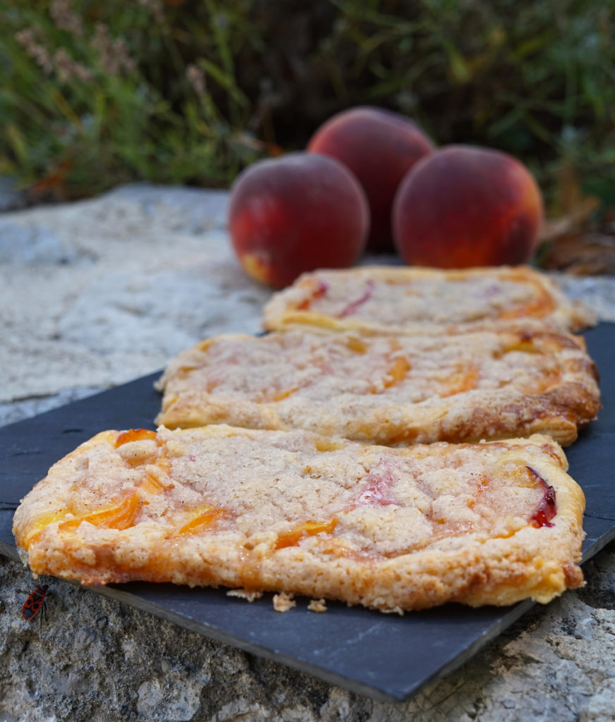 Peach Coffee Cake Danish