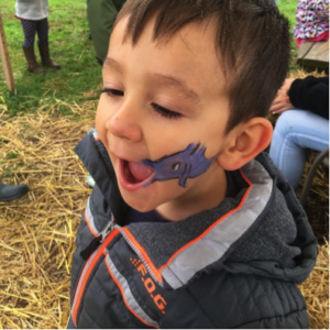 Face painting at fall festivals