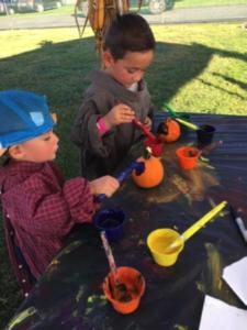 Pumpkin painting at fall festivals