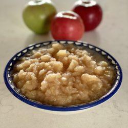 Chunky applesauce made in an InstantPot