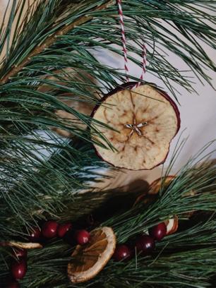 Dried apple ornament