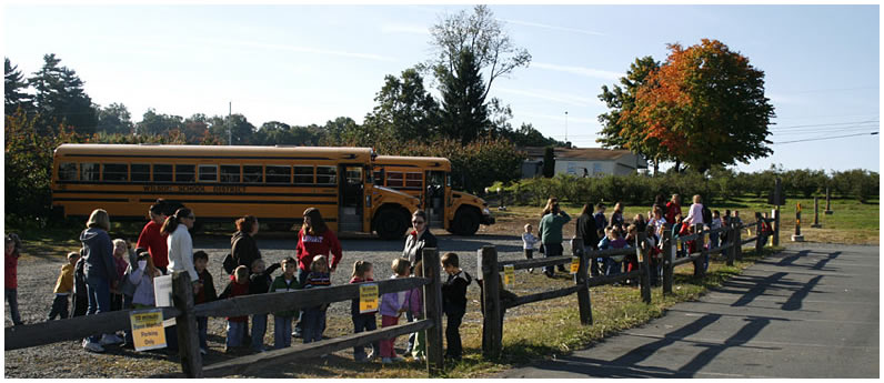 Educational events at Weaver's Orchard: School tours