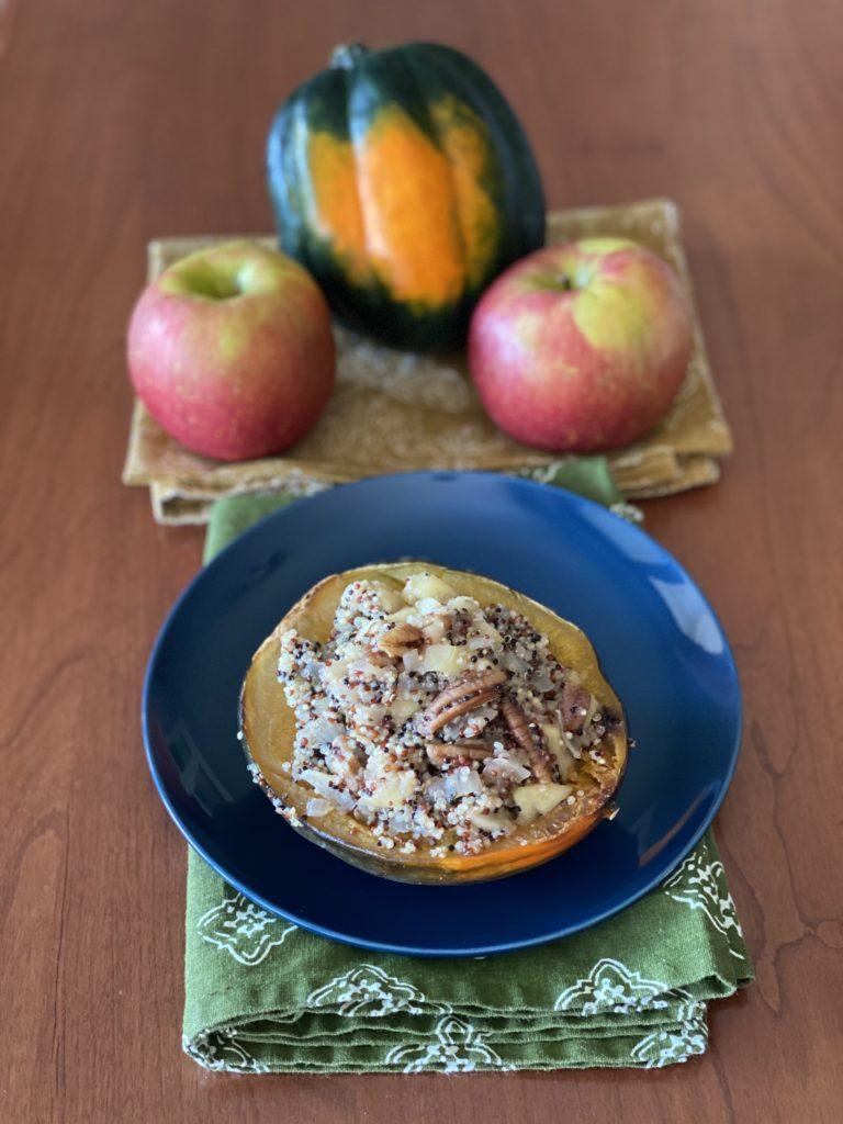 Roasted Apple & Quinoa Stuffed Squash